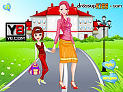 Игра Go To School With Mother